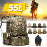 55L Molle Military Tactical Backpack Outdoor Camping Hiking Trekking Rucksack
