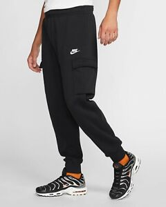 NWT Men's NIKE Cargo Fleece Jogger Sweatpants Black LT XLT 2XLT 3XL 3XLT 4XL