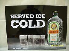 "JAGERMEISTER - ""SERVED ICE COLD"" - 24"" x 18"" STEEL TACKER SIGN *NEW*"