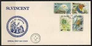 St.Vincent FDC stamps birds