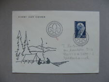 FINLAND, cover FDC to the Netherlands 1957, 50 years scouting