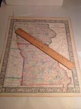 Antique Map Iowa Missouri 1861