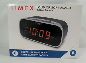 Timex Digital Alarm Clock with Battery Backup Soft or Loud T121BX - 🆕