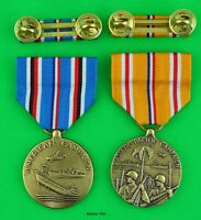WWII American Campaign and Asiatic Pacific Campaign Medals with Mounted Ribbons