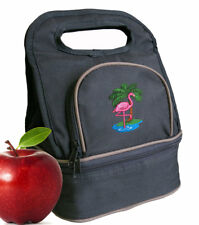 Pink FLAMINGO Palm Lunch Bag Lunchbox Cooler Bags