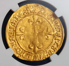 RARE 1498-1515 France Louis XII or ecu'or. (DAUPHINE) NGC certifiés XF45.