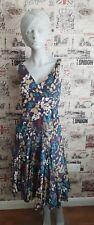 Great Plains Multicoloured fit&flare V neck floral dress size S 8-10 UK