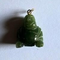 Vintage Colgante Buda Tallado Jade Nephrite/Pendant