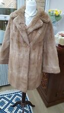 Vintage mid 20th c Musquash fur coat 3/4length. Stunning