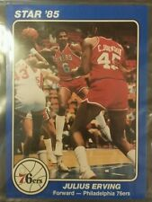 1985 STAR UNOPENED 5 CARD PACK UNGRADED JULIUS ERVING. CARDS ARE 5X7
