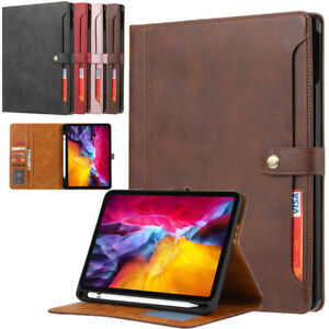 For iPad Air 4th Gen Pro 11 12.9 2021 Flip Leather Wallet Stand Smart Case Cover