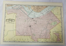 Antique Colored Lithograph Print Map Atlas Rand Mcnally Co Louisville Kentucky