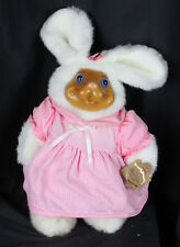 Robert Raikes Bear Vtg Paulette Wood Face Applause In Box Bunny Plush Easter