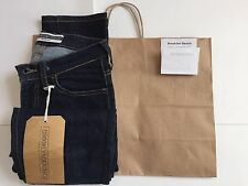 Authentic Brooklyn Denim Co Womens Croped Slim Jeans Rinse Blue 25 MSRP$198 NWT