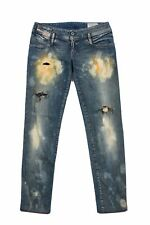 DIESEL Matic Womens Ladies Jeans Size W28 L34 Ripped Slim-tapered Zip Authentic