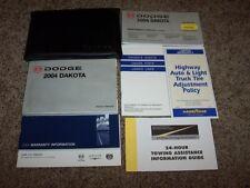 2004 Dodge Dakota Owner User Guide Operator Manual SLT Sport 3.7L 4.7L V6 V8