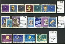 Albania 1962 to 1964 run of 7 Space thematic sets mint unmounted (2017/05/25#19)