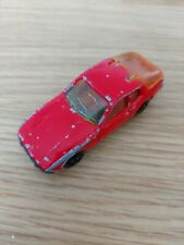 Majorette  PORSCHE 924 Diecast RED Car 1/60 Vintage RARE No:247 Poor Condition