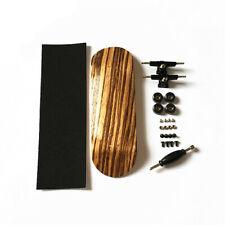Zebra Bearing Wheels Wooden Canadian Maple Deck Fingerboard Skateboard Game 32mm