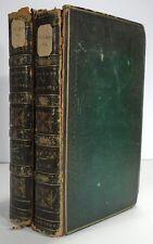 ROBERT BURTON Anatomy of Melancholy 1806 Two Volumes Leather 11th Edition PLATES