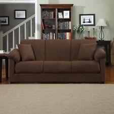 NEW Stylish Dark Brown Montero Microfiber Convert - A - Couch Sofa Sleeper Bed