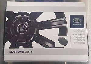 GENUINE OEM Land Rover Evoque/Discovery Sport Black Wheel Nut Set