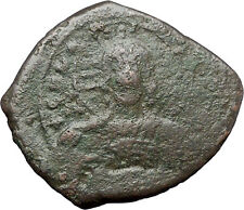JESUS CHRIST Class A2 Anonymous Ancient 1025AD Byzantine Follis Coin i48268