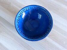 COGNAC MARTELL 1715 - Cendrier rond bleu !! signé ST CLEMENT !!!