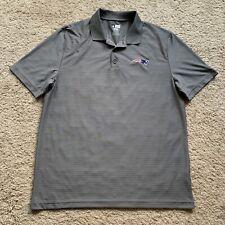 Men's New England Patriots Golf Polo Gray XL NFL Team Apparel TX3 Cool OO28