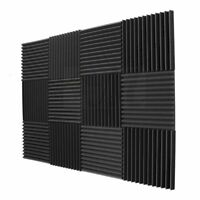 12 Pack- Acoustic Panels foam Engineering sponge Wedges Soundproofing Panel R9M3