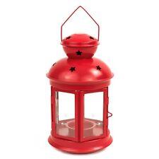 IKEA VINTERFEST ROTERA Laterne 21cm Kerzenhalter Teelichter Teelichthalter rot