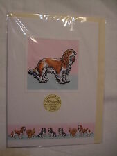 CARTE + ENVELOPPE - chien CAVALIER KING CHARLES BLENHEIM