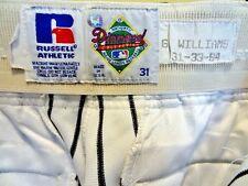 NY YANKEE G.WILLIAMS SET 1994 PINSTRIPE PANTS & 1996 LOCKER NAME PLATE