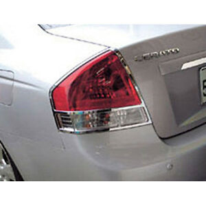 Chrome Tail Light Lamp Cover 2pc For 2005 2009 Kia Spectra