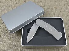 Stainless Steel Lock Back Knife - Engraved - Personalized Gift for Men - (181)