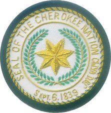 Cherokee Nation City Town Municipal Office Uniform Seal Arms Crest Indian Tribe