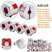 D20L25 CNC Stepper Motor Flexible Plum Jaw Shaft Coupling Coupler for 3D Printer