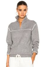 CHLOE DRAWSTRING-HEM QUARTER-ZIP SWEATER SMALL