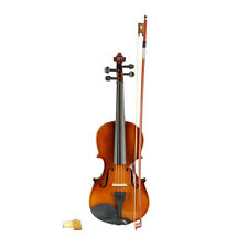 New Acoustic Violin 3/4 Full Size Natural Fiddle with Case for Beginner