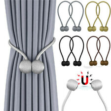 1Pcs Curtain Pearl Magnetic Clips Tie Buckle Ball Back Tiebacks Holder Window