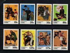 Zaire #1005-12 (1981 Norman Rockwell Paintings  set) VFMNH CV $6.00