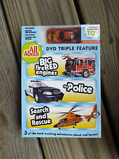 NEW DVD Big Red Fire Engines, The Police and Search & Rescue + COLLECTIBLE TOY