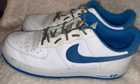 Nike Air Force 1 Mens Sz 12 White Photo Blue Casual Sneakers 488298-148