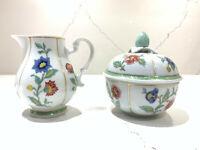 "Heinrich W. Germany VILLEROY & BOCH ""INDIAN SUMMER"" Floral Creamer & Sugar Set"