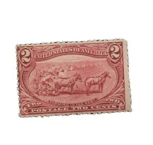 US #286, unused, never hinged. Perfs just touch at left