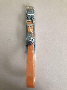 New Kurgo Muck Dog Collar Waterproof Odorless Waterproof Orange Color Size Lge