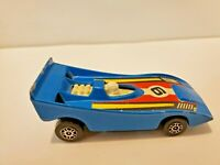 VINTAGE 1974 CORGI JUNIORS GROWLERS NO E82 CAN-AM RACER BLUE MADE IN GT BRITAIN