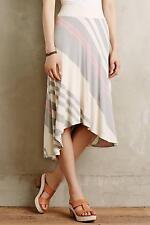 New Anthropologie Seastripe Skirt Sz S Size Small NIP Asymmetric by Bordeaux