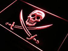 "16""x12"" s116-r Pirates Skull Bar Pub Beer NEW Neon Sign"