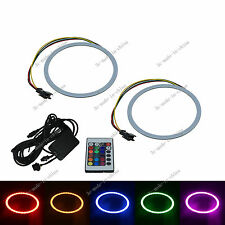 2X Changing Color 110MM Angel Eyes 105 Chips COB LED Ring Light IR Remote O111